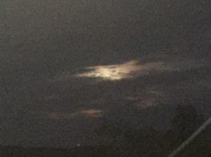 Blood moon breaking through